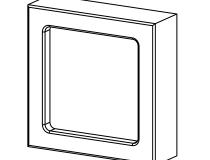 капитель погонажной колонки 75х75