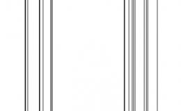 погонаж колонки декоративной 2500х147