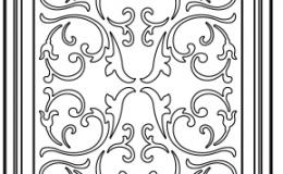 фасад с декоративной решёткой