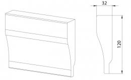 ножка цоколя колонки декоративной 120х45