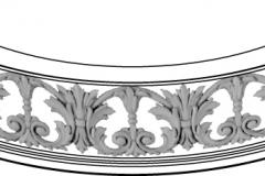 INF PLAT- molding90 polukrug