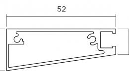 уплотнитель для вертикального погонажного профиля L=3000 мм