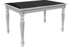 Стол Фламиния прямоугольный со вставкой ИК VULCANO 1200/1700х800