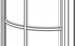 фасад под стекло полукруглый с обрешеткой