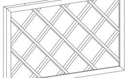 бутылочница-решетка для модуля 720х450 комплект решеток из 2-х штук