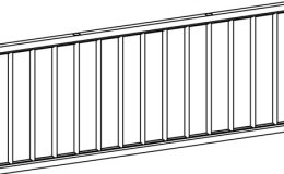 тарелочница декоративная 863х332х22 комплект решеток из 2-х штук