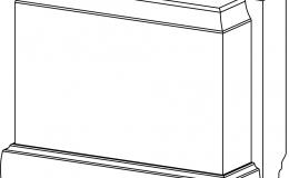 ножка цоколя пилястры 150х120х64