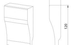 ножка цоколя колонки декоративной 120х75